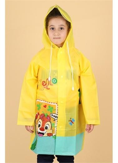 Sanbe Sanbe 905 S 7001 % 100 Eva Kız Çocuk Su Geçirmez Yağmurluk Sarı